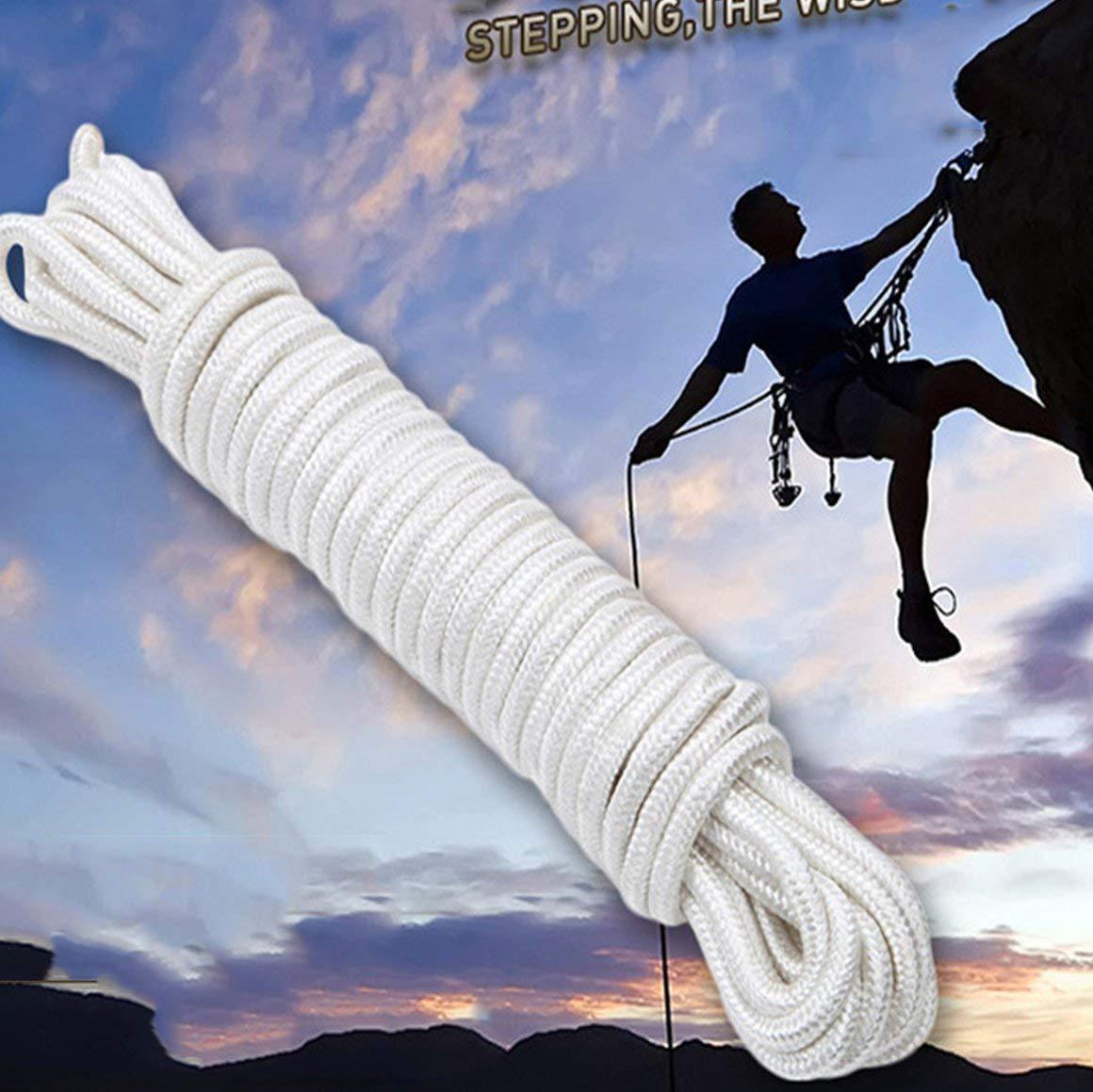Funnyrunstore 7mm Cable de paraca/ídas Cuerda de Escalada Multifuncional Cuerda de Paraguas para Senderismo Camping Equipo de Supervivencia de Emergencia