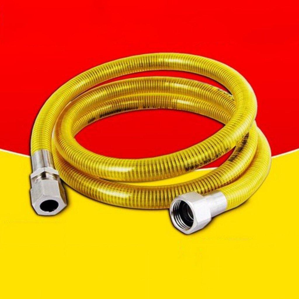 Acquisto Manichetta MXJ61 304 Tubo a Gas in Acciaio Inossidabile Tubo Gas a Gas Naturale Riscaldatore d'Acqua Metallo Tubo corrugato 2m (Colore : Screw Mouth+Screw Mouth) Prezzi offerte