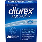 Diurex Multi-Symptom AquaGels 20 Count, Diuretic Pill to Help Eliminate Water Weight and Bloating due to Periodic Water Retention