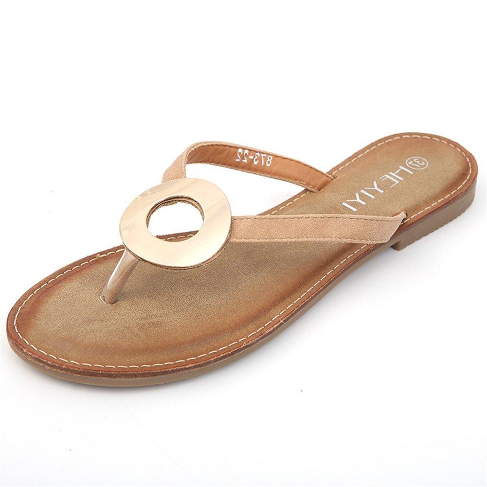 Damenschuhe New Spring Summer Comfort Ankle Strap Sandalen Einfache Rouml;mische Mode Sandalen Runde Ring Anti-Rutsch-Sandalen  36 EU|C
