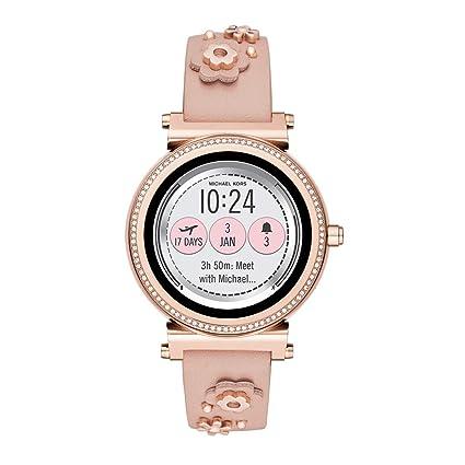 Michael Kors Access MKT9062 - Correa de Reloj Inteligente de Piel (18 mm): Amazon.es: Relojes