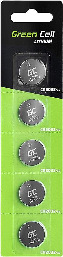 5x Green Cell CR2025 Lithium Knopfzellen 3V Lithiumbatterie Batterie 5er Pack