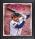 """Freddie Freeman Atlanta Braves Framed 15"""" x 17"""" Playmakers Collage - Fanatics Authentic Certified - MLB Player Plaques and Collages"""