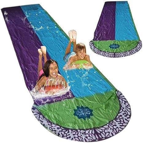 LTJY 480 x 140cm Deportes Náuticos Agua Tobogán Agua Tren Doble Agua Tobogán de Agua Juguete Jardín Resbaladilla Pista Deslizante Hinchable para Niños Juegos cumpleaños Agua Juguete: Amazon.es: Deportes y aire libre