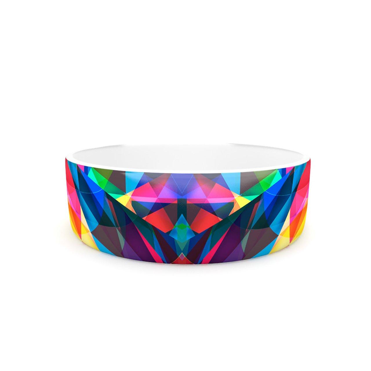 Kess InHouse Danny Ivan Day We Met  Pet Bowl, 7-Inch, Rainbow Geometric