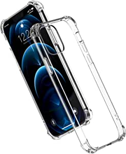 UGREEN Clear Case Compatible For iPhone 12 Pro Max Transparent Cover TPU Protective with 4 Corners Bumper Shockproof Protection and Soft Scratch-Resistant Anti-Drop Slim Thin Case