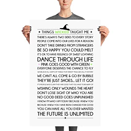 Things Wicked Taught Me Poster - Base On Wicked Musical Album, Broadway  Musical, Quotes & Lyrics Quotes & Lyrics, Home Decor, Wall Art, Printable  ...