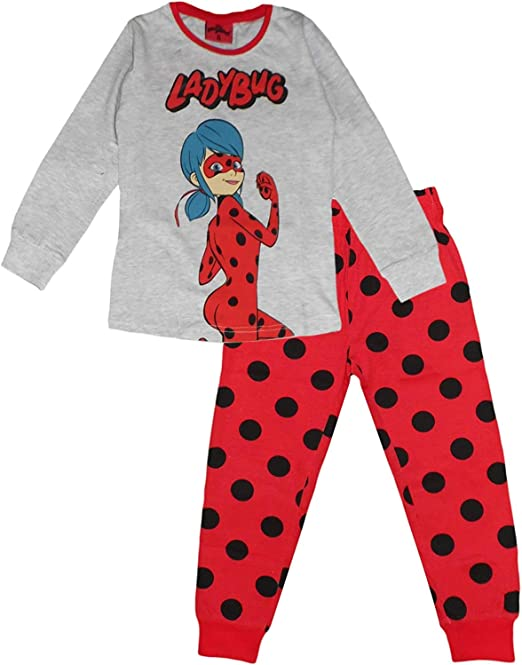 Miraculous Tales of Ladybug and Cat Noir - Pijama de algodón para niña: Amazon.es: Ropa y accesorios