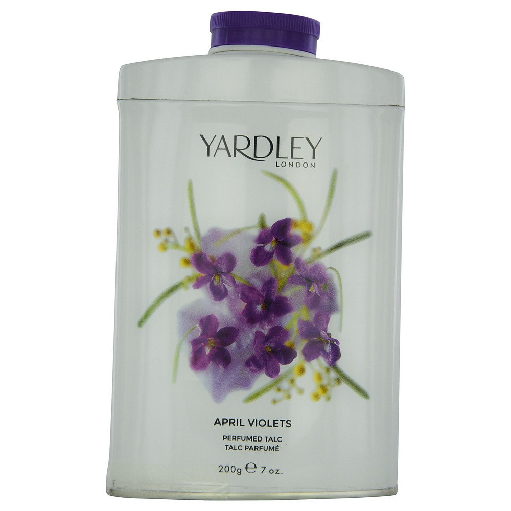 YARDLEY by Yardley APRIL VIOLETS TIN TALC 7 OZ (NEW PACKAGING) for WOMEN ---(Package Of 6)