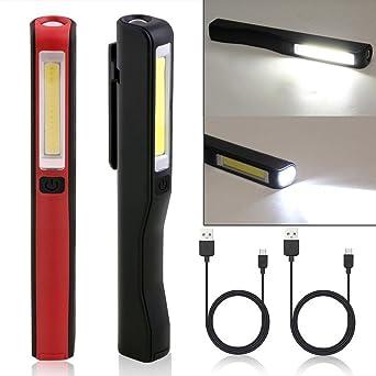 Akku Werkstattlampe Stablampe COB Magnetische Auto Inspektion Taschenlampe