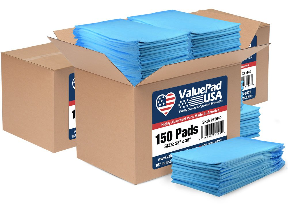 ValuePad USA 450 23x36 40 gram Economy Dog Training Puppy Pads