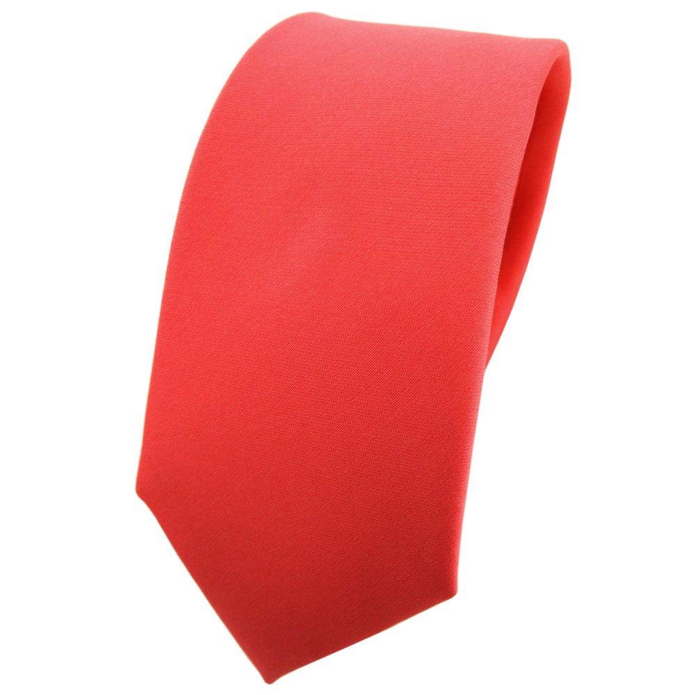 TigerTie corbata estrecha rojo ros/é rojo salm/ón monocromo 100/% poli/éster