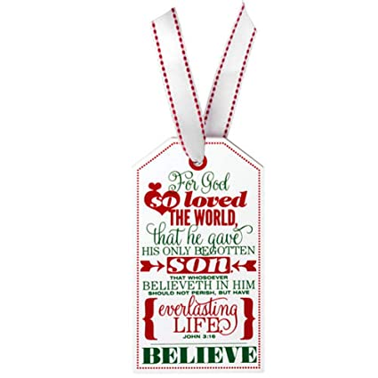 Gift Tag For God So Loved The World John 316 Wood 3 X 5