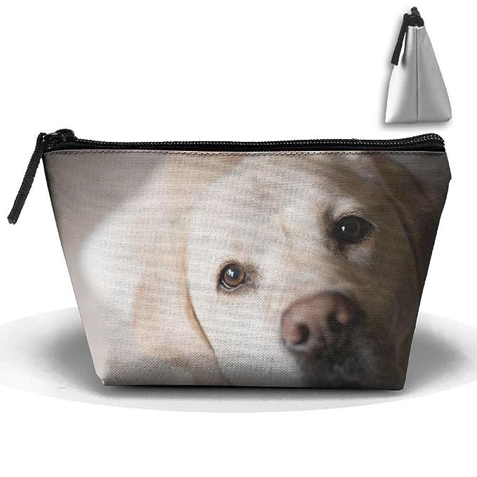 Amazon Makeup Bag Trapezoidal Storage Bag Labrador Dog Eye