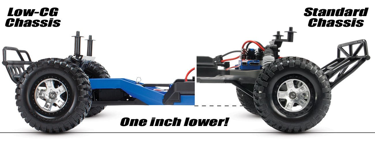 Traxxas 5830 Low-CG Conversion Kit for 1/10 Scale Slash 2WD, Blue