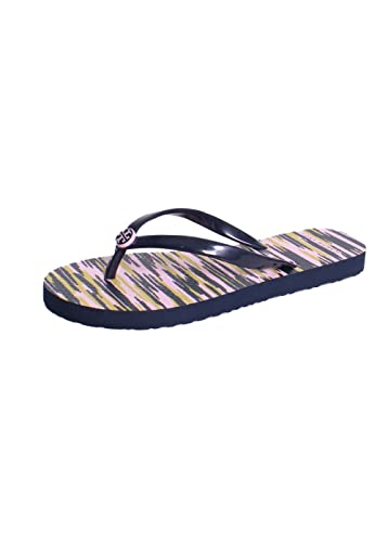 Tory Burch Thin Printed PVC Flip Flop Sandals In Tory Navy Space Dye 5
