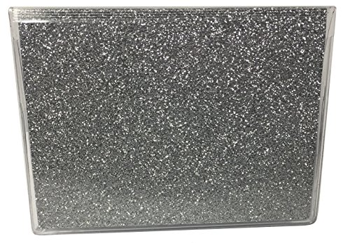RFID ArmorShield Protected Silver Bling Debit Card Holder w/Register + Photo Insert Glitter Sparkle ATM