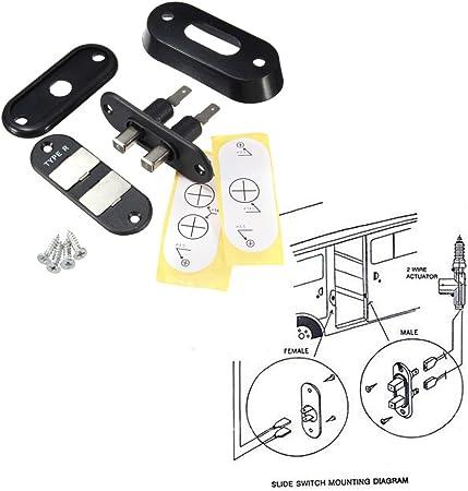 winomo Negro Puerta Corredera Interruptor de contacto para Auto Van Alarma cierre centralizado para Volkswagen T4 Ford: Amazon.es: Coche y moto