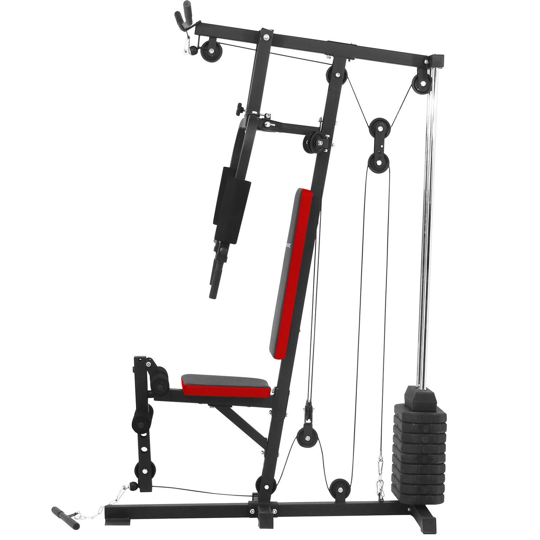 Ise - Estación de musculación con banco de musculación con pesas SY-4002: Amazon.es: Deportes y aire libre