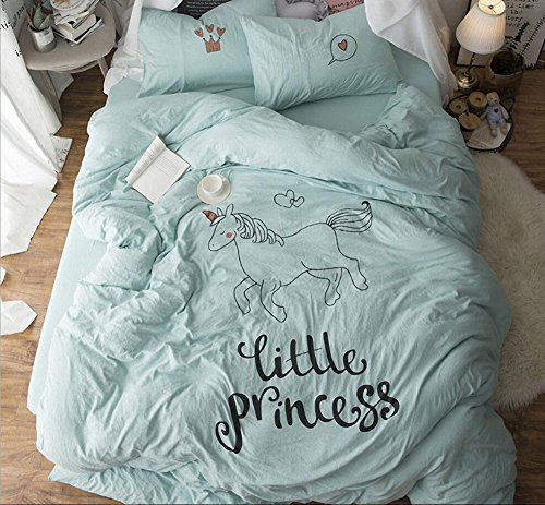 LAGHCAT 4 Pieces Cotton Duvet Cover Set and Pillow Shams Nat