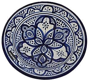 Platos de cer mica hecho a mano servir marroqu para colgar en la pared exquisitos colores - Platos ceramica colores ...