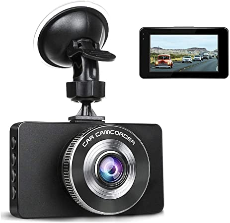 Ananteke Dash Cam,Dashboard Camera 1080P HD,Driving Video Recorder with 3 Inch LCD, Parking Monitoring,Motion Detection, G-Sensor, LED Compensation