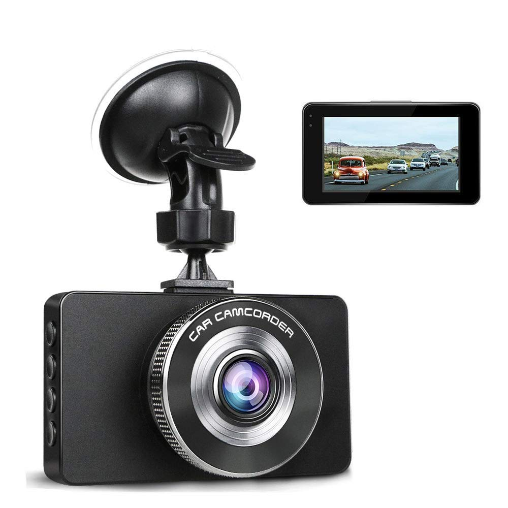 Ananteke Dash Cam,Dashboard Camera 1080P HD,Driving Video Recorder with 3 Inch LCD G-Sensor Parking Monitoring,Motion Detection LED Compensation