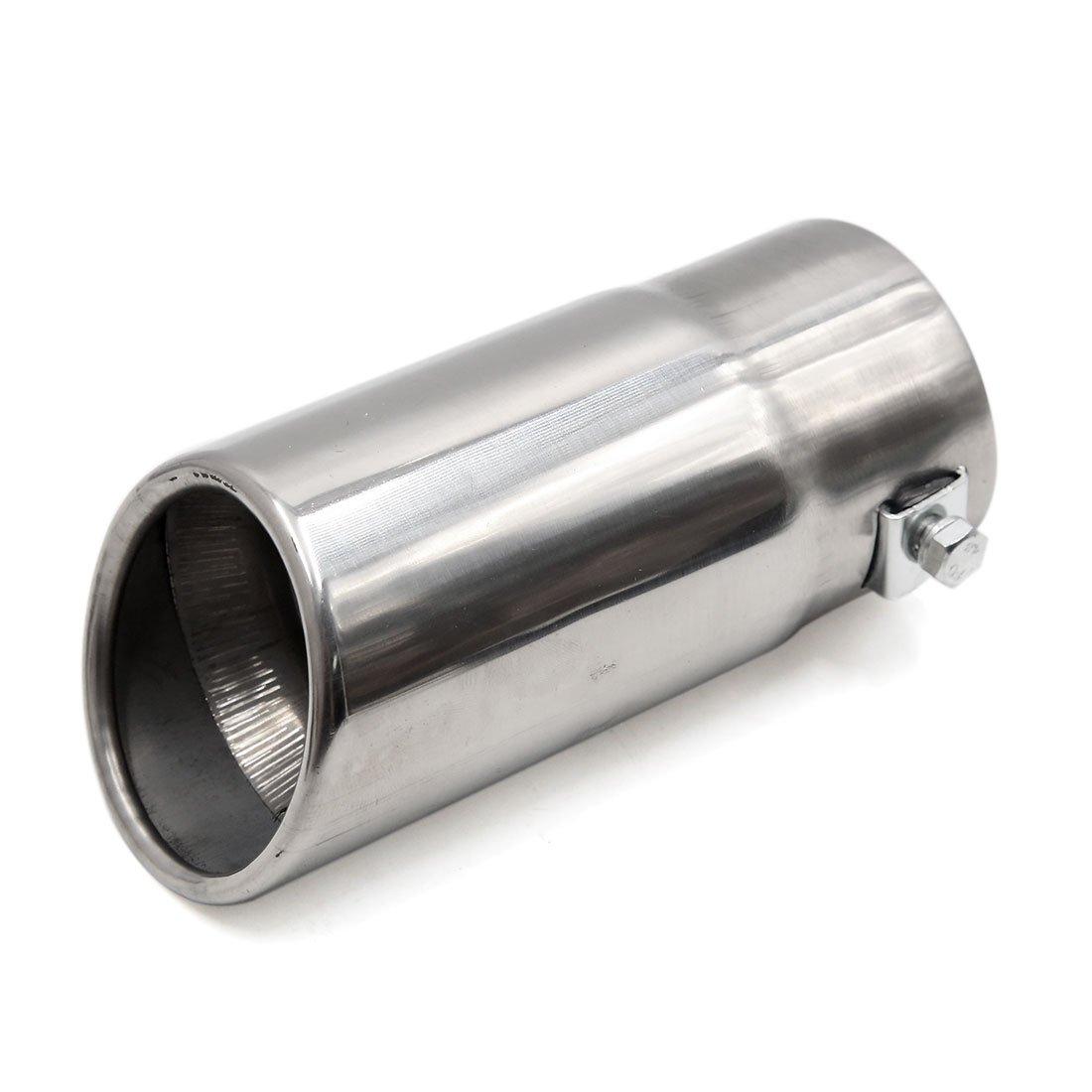 sourcingmap® Modification Auto Voiture Acier Inoxydable tuyau échappement Silencieux 60mm Tête silencieux Inlet a17041200ux1210