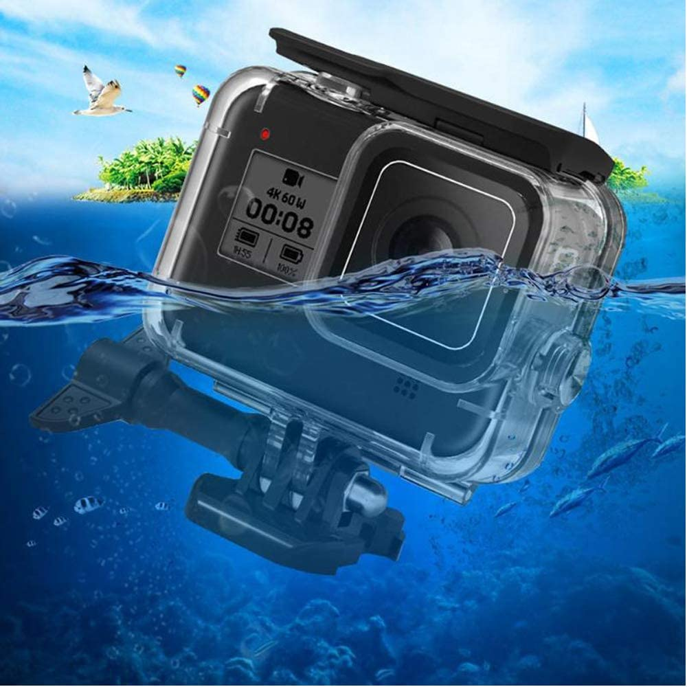 Underwater Waterproof Case for GoPro Hero 8 Black Diving Protective Cover Housing Mount Up to 60M