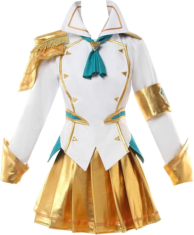 LOL Battle Academia Lux Prestige Cosplay Kostüm Uniform Outfit Dress Free Wig