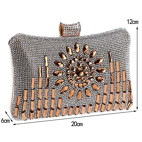 3 Clutch Evening Europe Party Diamond QEQE Bag 1 Women's And Lady America Color Dinner Cxvq7Tgqw