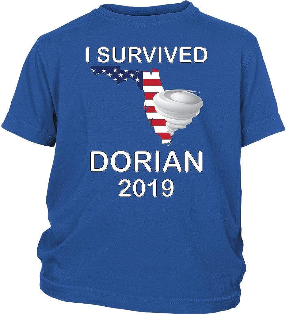 I Survived Hurricane Dorian Florida 2019 Youth Short Sleeved T-Shirt