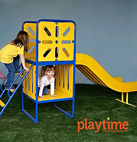 Large Tree House Playground Structure with Ladder and Slide by Playtime Playground Equipment