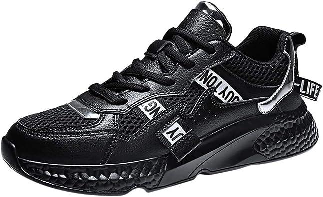 Zapatillas Running Hombre Aire Libre Y Deporte Transpirables Casual Lace Up Zapatos Gimnasio Correr Sneakers, Zapatos De Cordones para Hombre Fondo Plano Amortiguadores: Amazon.es: Zapatos y complementos