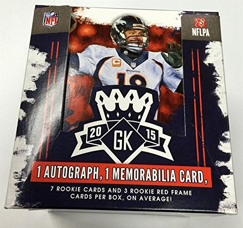 Legends Auto Card - 2015 Donruss Gridiron Kings Football Cards Hobby Box (12 packs/box, 8 cards/pack. 1 Auto & 1 Memorabilia/Box -Look for Winston, Mariota, Cooper Rookies) - 10/7 Release Date !