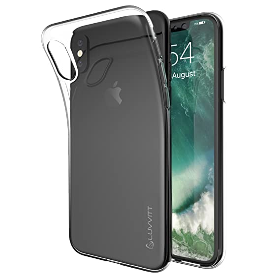hot sale online 5b8b9 890be Luvvitt Clarity Case with Light and Slim Flexible TPU Rubber Protection for  iPhone X 10 (2017) - Crystal Clear