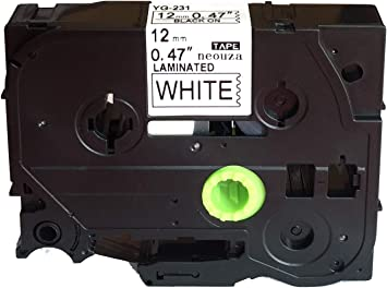 TZe-231 TZ-231 12mm Black on White Label Tape For Brother P-touch PT-1750 7100
