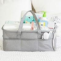 Baby Diaper Caddy Organizer by Kids N Such - Zipper Pocket - Large 15x12x7 Portable...