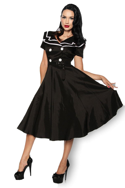 Rockabilly-Kleid Damen schwarz/weiß