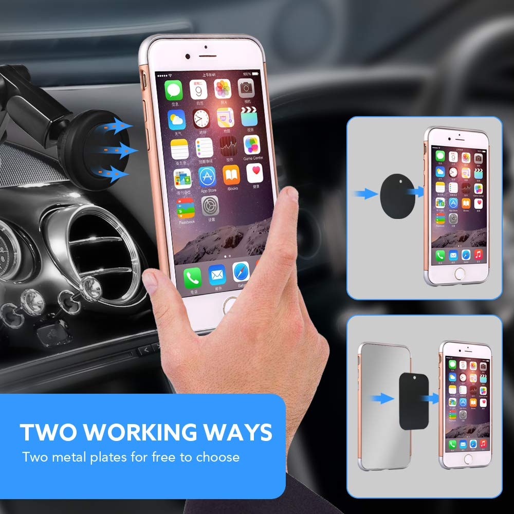 Car Phone Mount Magnetic Cell Phone Holder for Car Dash Windshield Dashboard Universal Adjustable with Long Arms Phone Car Cradle Compatiable with Phone Samsung Sony Google GPS Device AnyMe 4351536502