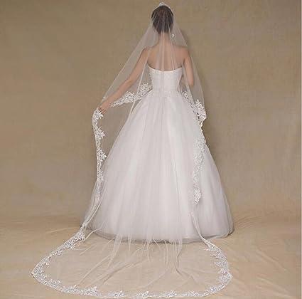 YHKQS-KQS Velo de la boda Vestidos de novia europeos y americanos de las mujeres