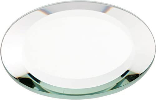 Plymor Round 5mm Beveled Glass Mirror, 3 inch x 3 inch Pack of 24