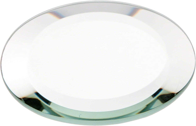 Amazon.com: Plymor - Espejo redondo de cristal biselado ...