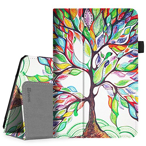 Fintie Verizon ASUS ZenPad Z8s (ZT582KL) Case, Premium PU Leather Folio Stand Cover with Auto Sleep/Wake Function for Verizon ASUS ZenPad Z8s 7.9 inch Tablet 2017 Release, Love Tree