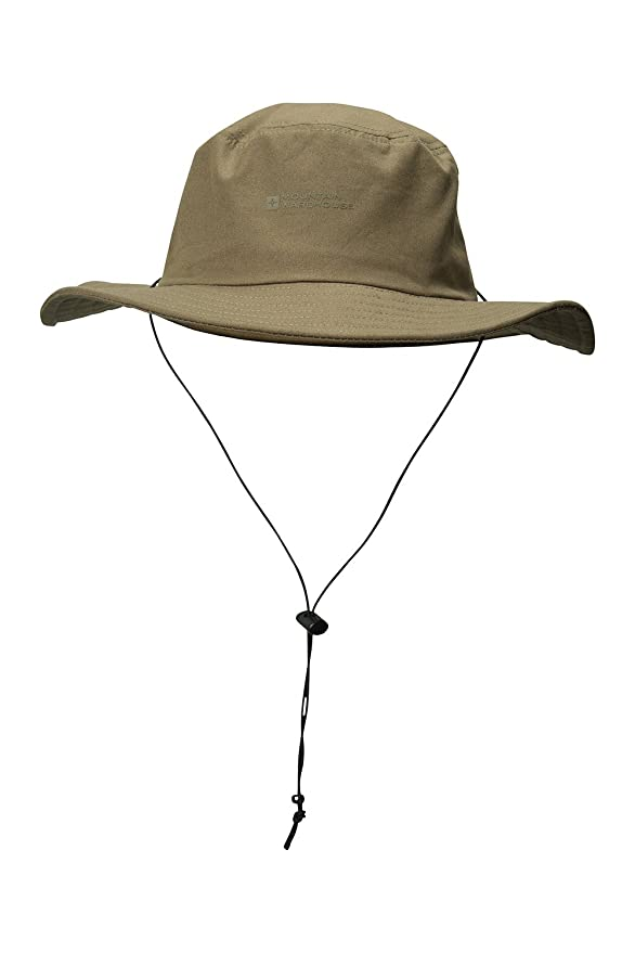 7362b63f Mountain Warehouse Australian Brim Hat - 100% Cotton Cowboy Cap, UPF30+  Summer Hat, Lightweight Sun Cap, Breathable Protection - For Spring  Travelling, ...