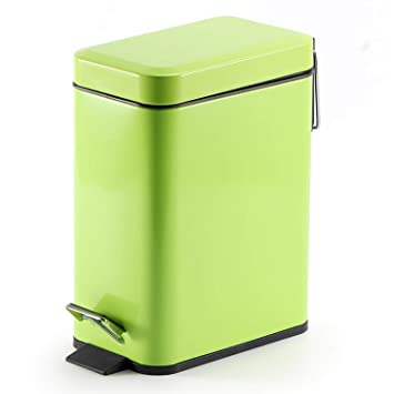 Topgalaxy.Z Kitchen Trash Bin Waste Can 5 Liter/1.32 Gallon Stainless Steel  Trash Can, Small Garbage Can with Lid, Office Waste Bins, Trash Can/Trash  ...