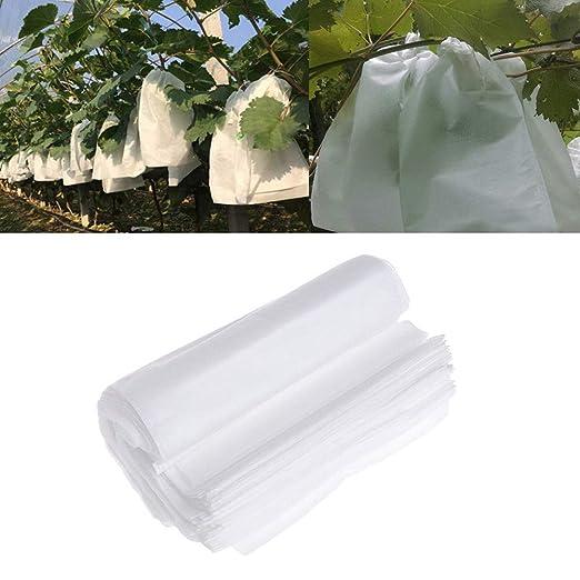SYN 100 Piezas Bolsa de protección de Frutas, Insectos mosquitera, Bolsa de Barrera, Tela no Tejida, Bolsas de protección de Frutas para jardín, ...