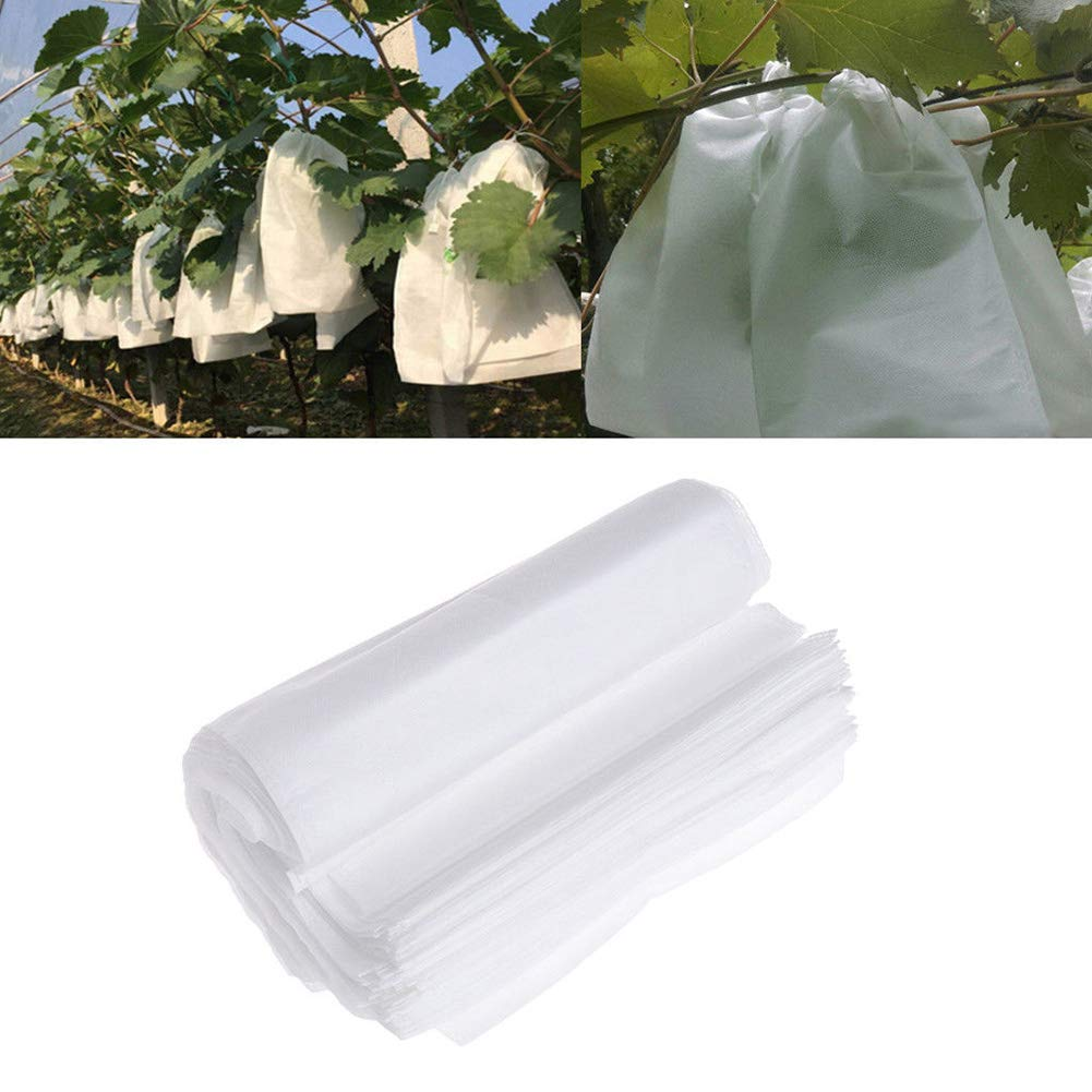 100pcs/set Fruit Protection Bag, Non-Woven Fabric Garden Fruit Protection Bags Insects Barrier Prevent Birds Bugs Flies for Protect Grapes, Apples, Tomatoes etc