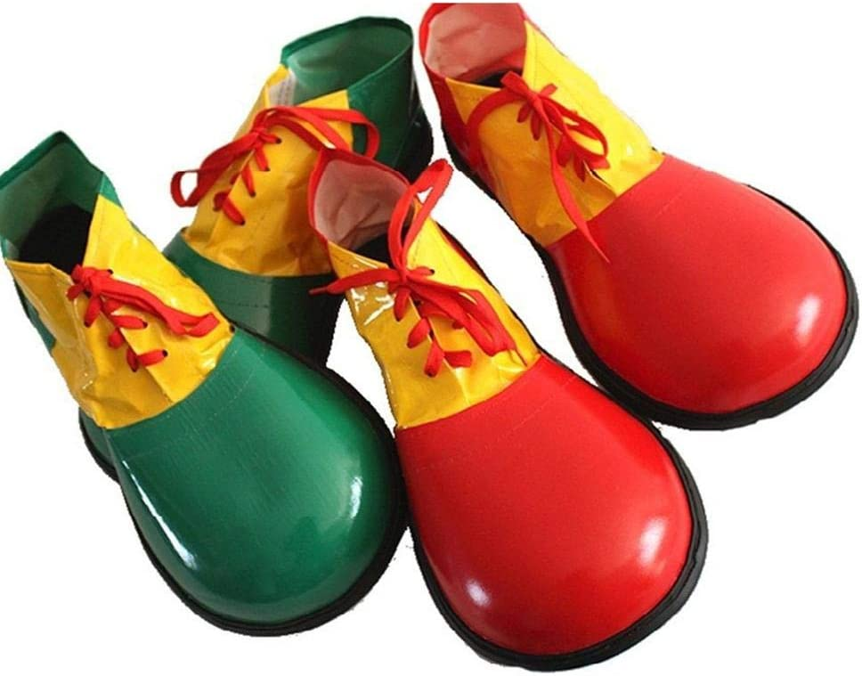 Festa di Natale Prop Grande Testa Cosplay Festa di Carnevale Costumi di Prestazione Accessori Taglia Unica /Divertente per Adulti Scarpe da Clown in Pelle PU per Halloween