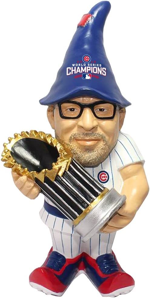FOCO MLB Chicago Cubs Joe Maddon Unisex Maddon J. #70 2016 World Series Champions Resin Player Gnome